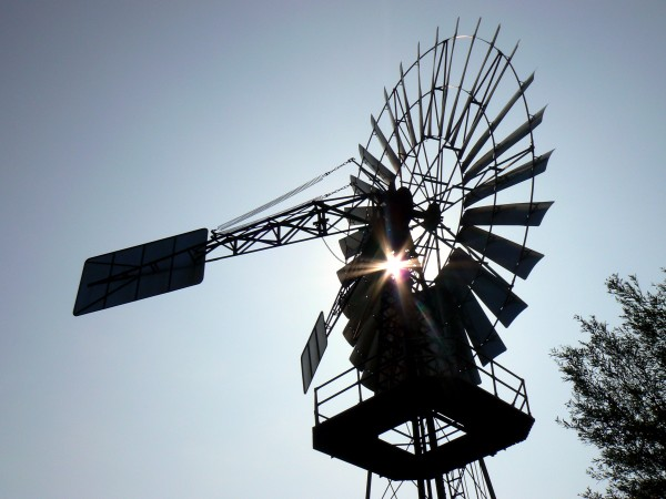 windschöpfwerk, lobbe, na, luz, de, fundo - 2127363
