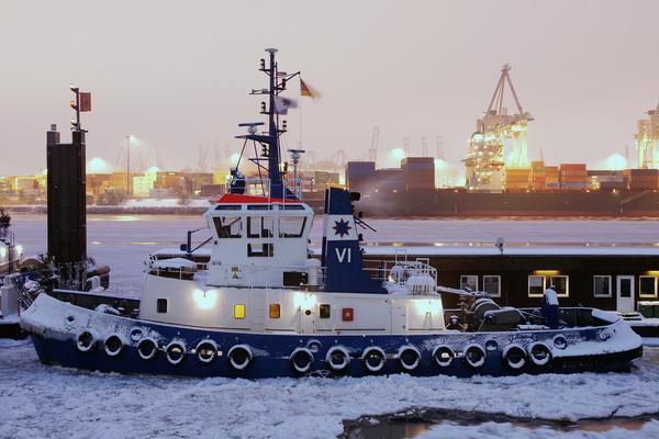 inverno noite porto gelo hamburgo portas