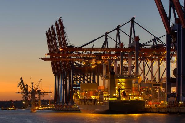noite porto hamburgo portas cais barco