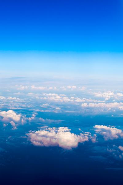 nuvem., vista, da, janela, de, um - 10163531