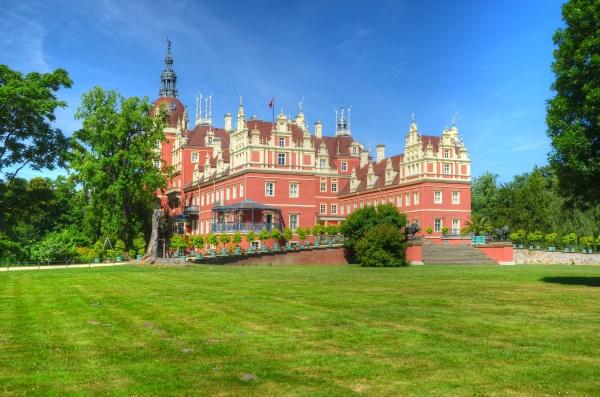 castle in the pueckler parque principe