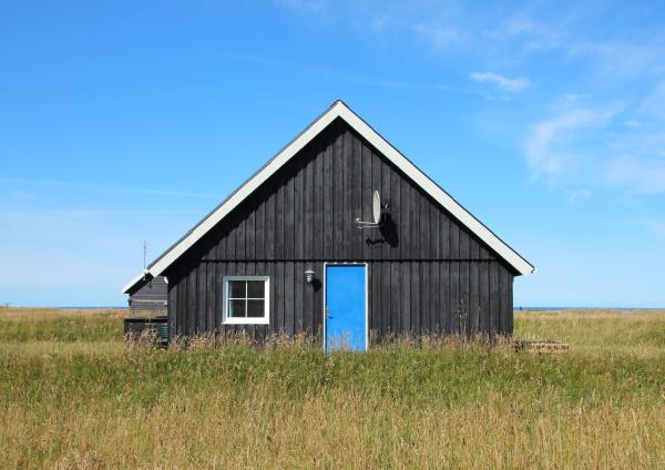 azul casa construcao solitario ferias negro