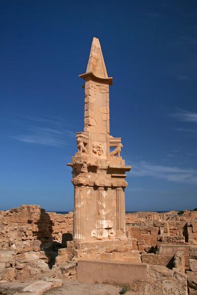cultura antigo africa libia vista coluna