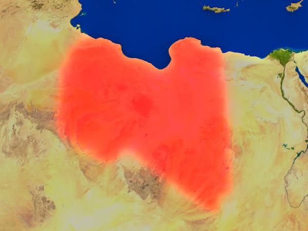 ambiente espaco africa libia ilustracao satelite
