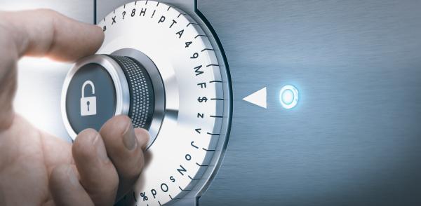 conceito de pasword seguro e protegido