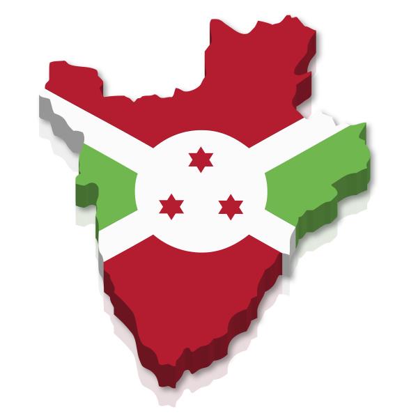 africa contornos tridimensional bandeira limite silhueta