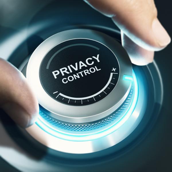 configuracoes de controle de privacidade