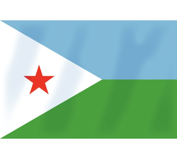 djibuti bandeira africa africano pais simbolo
