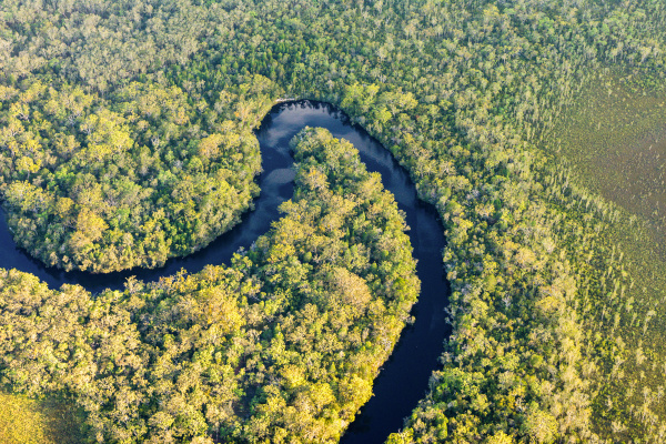 vista aerea do rio noosa great