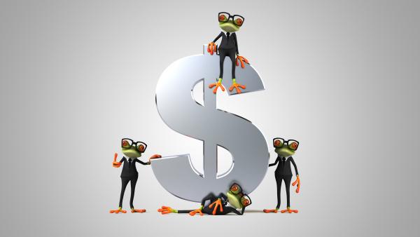 ilustração, 3d, de, sapos, verdes, ao - 28218174