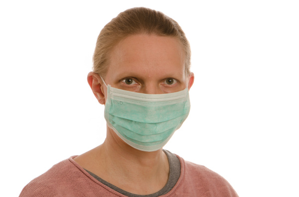 mulher, com, proteção, bucal, e, máscara - 28231685