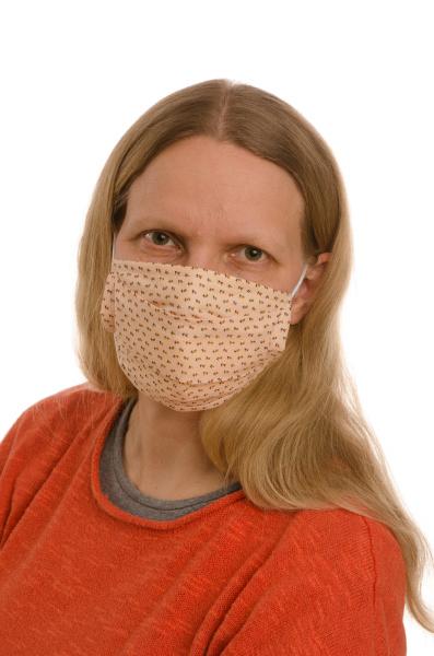 mulher, com, proteção, bucal, e, máscara - 28231763