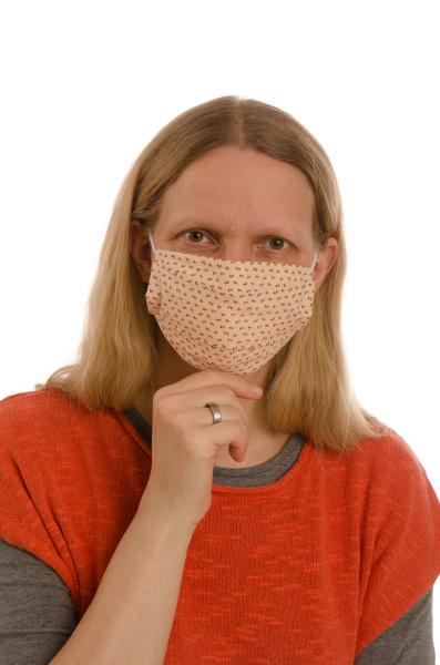 mulher, com, proteção, bucal, e, máscara - 28231766