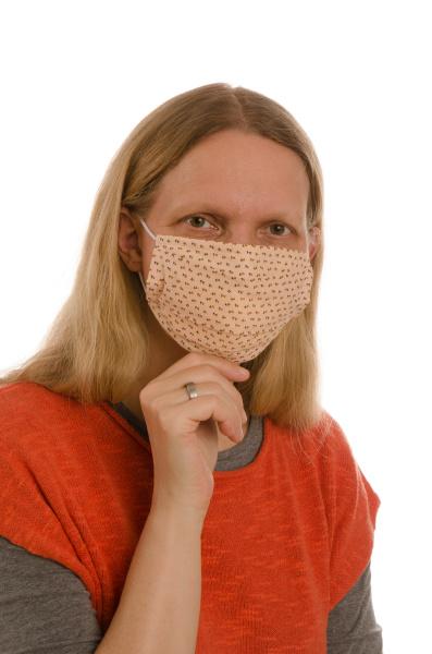 mulher, com, proteção, bucal, e, máscara - 28231767