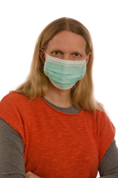 mulher, com, proteção, bucal, e, máscara - 28231768