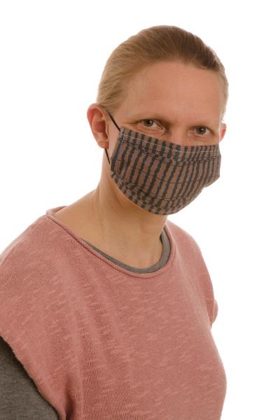 mulher, com, proteção, bucal, e, máscara - 28231981