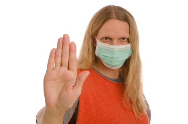 mulher, com, proteção, bucal, e, máscara - 28232124