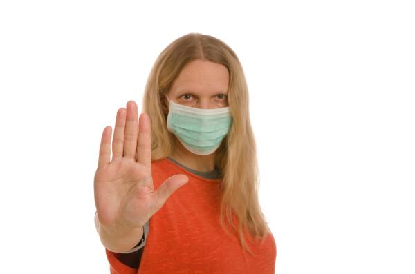 mulher, com, proteção, bucal, e, máscara - 28232138