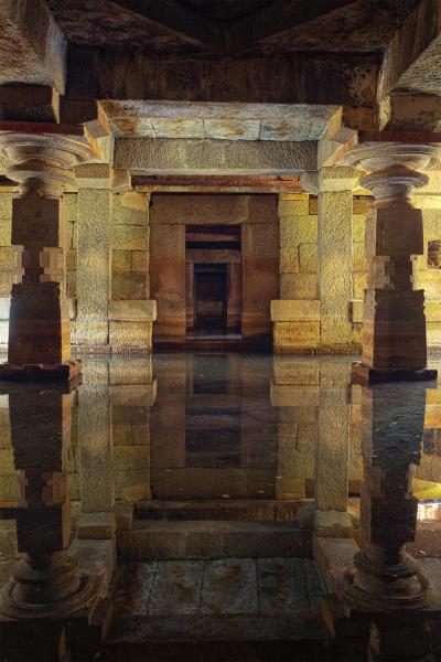 templo, subterrâneo, hampi, karnataka - 28472401
