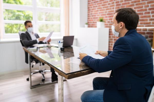 reuniao de negocios de entrevista de