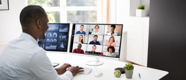 reuniao webinar de aprendizagem de videoconferencia