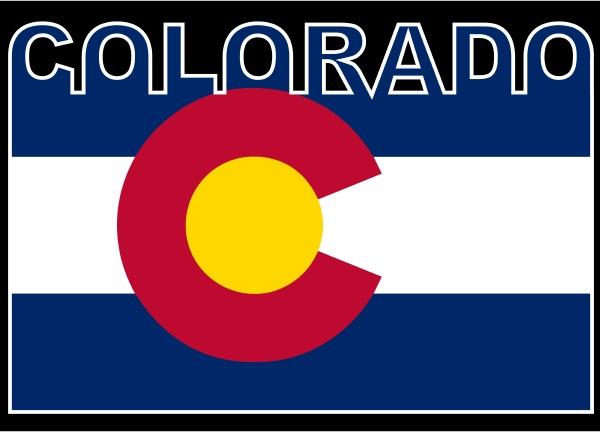 bandeira de texto do colorado