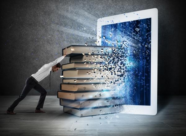 lendo livros com um e book