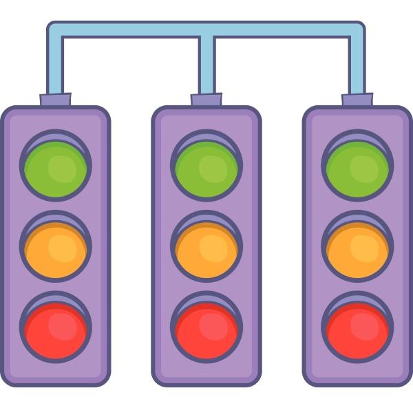 racing, traffic, lights, icon, , cartoon, style - 29951644