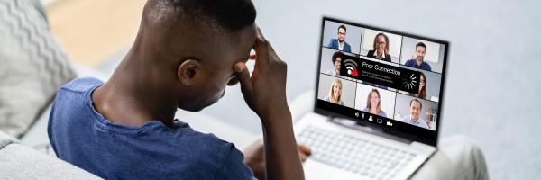 afro americano video conferencia on line