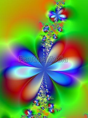 azul experimento grafico flor planta verde