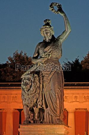 estatua noite bavaria munique marca ponto