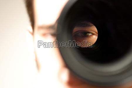 ver atraves da lente
