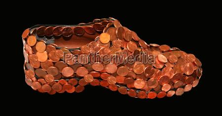 salvar salva pfennigs trocado centavo sapato
