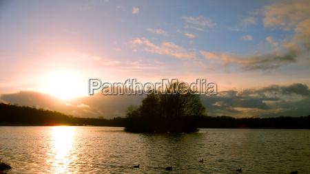invierno puesta del sol tranquilidad hamburgo