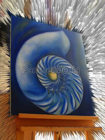 azul pintura caracol dedicacao lazer cor