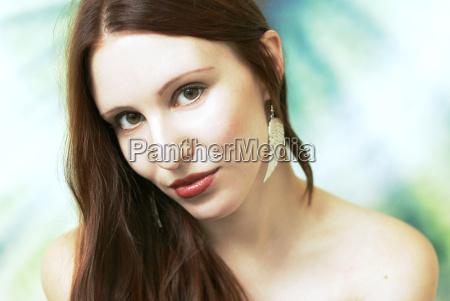 mulher belo agradavel close up emocoes