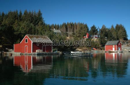 casa construcao ferias noruega peixe pesca