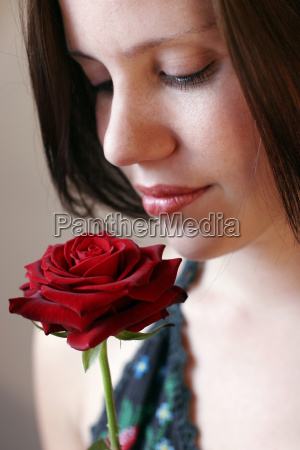 mulher belo agradavel feminino emocoes flor
