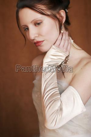 mulher belo agradavel emocoes boca retrato