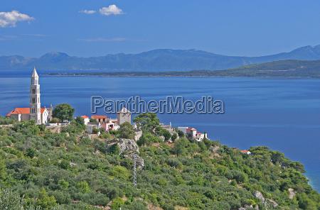 cidade costa mediterranico adriatico croacia cartao
