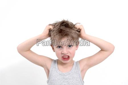 sentimento masculino face homem cabelo ruim