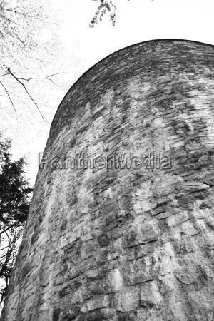 torre historia austria parede alvenaria ruina
