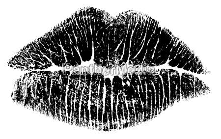 beijar os labios bitmap somente preto