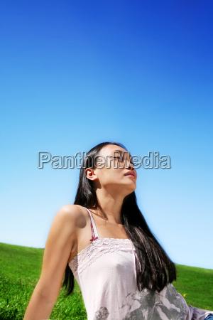 retrato, da, beleza, da, natureza - 727332