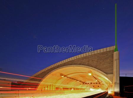 tunel rodovia jena autobahntunnel blaue stunde