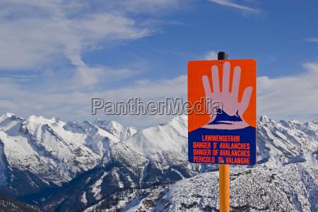perigo da avalanche