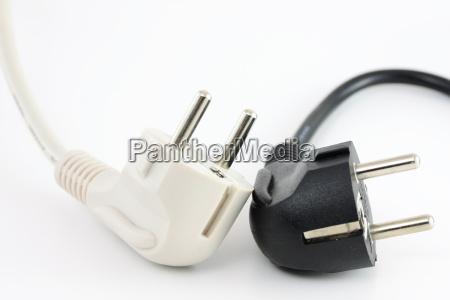 dispositivo poder eletrico ficha cabo construcao