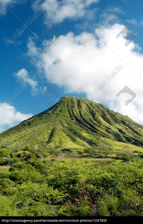 montanha, verde, no, havaí - 1247633