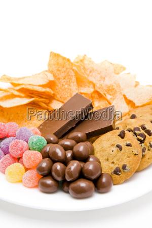closeup biscoitos bolinhos insalubre ernaehrng como