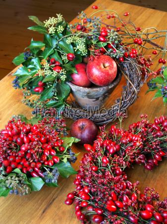 decoracao do outono com quadris cor